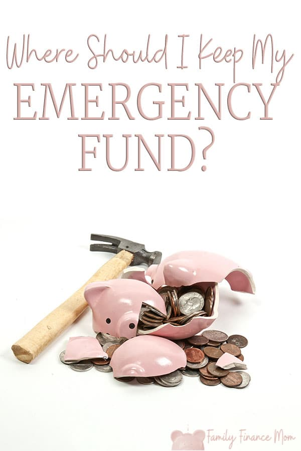 In case of emergency, break the piggy bank